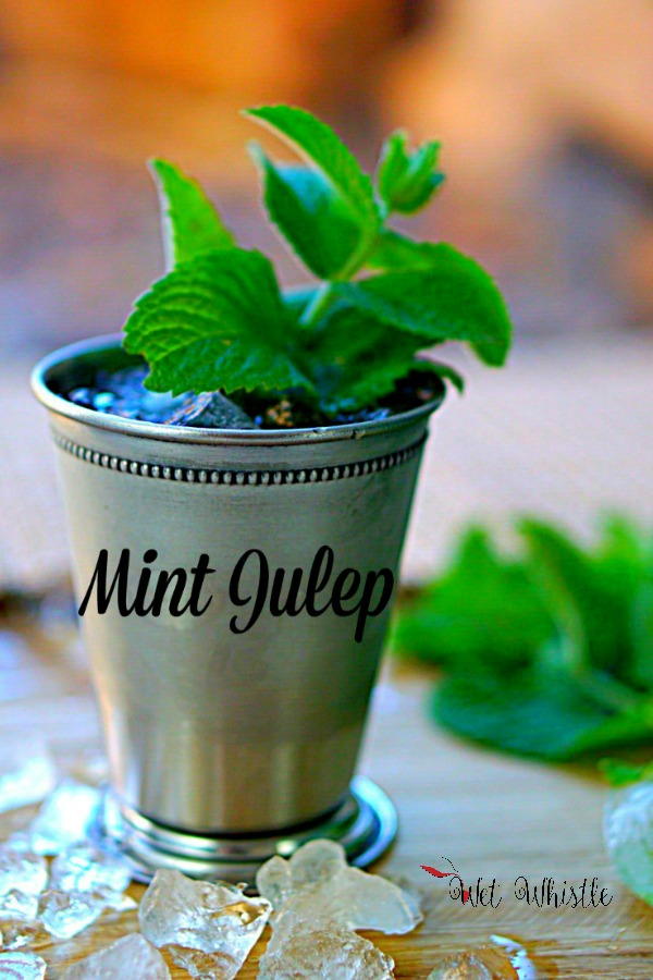 A Mint Julep is made with bourbon, simple syrup, and mint leaves. Enjoy this tradition of the south! By Wet Whistle Drinks by Darla Bentley