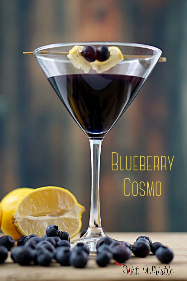 Almost everyone loves a good Cosmopolitan, but it's so much fun to make variations of the classic Cosmo. The Blueberry Cosmo is incredible! I can't wait to make these for my next party! ~Wet Whistle Drinks by Darla Bentley