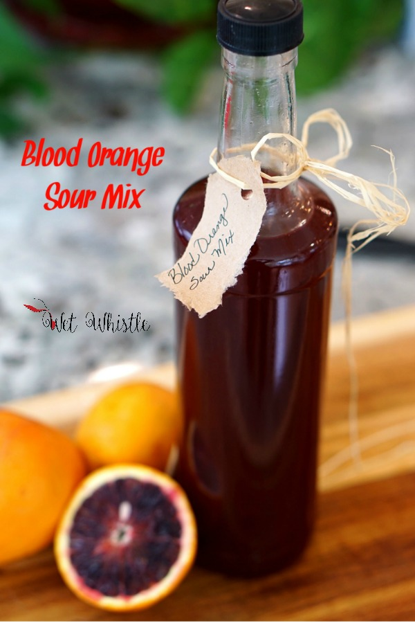 Blood Orange Sour Mix gives a flavorful twist to any cocktail that may require a sour mix. The intense orange flavor of a blood orange is accented by undertones of berries and pomegranate By Wet Whistle Drinks by Darla Bentley