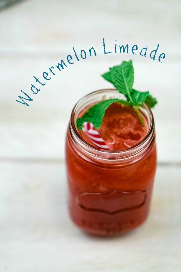 Watermelon Limeade is a lovely way to enjoy the delightful nectar of a perfectly ripe watermelon! Juicy and sweet, this drink is an ideal refresher!~Wet Whistle Drinks by Darla Bentley