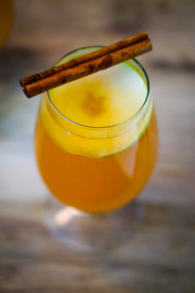 Pumpkin Pie Sangria is perfect for any holiday gathering! It has all of the lovely flavors of pumpkin pie, sweet pears, crisp apples and white wine. Your guests will be delighted! ~By Wet Whistle Drinks by Darla Bentley