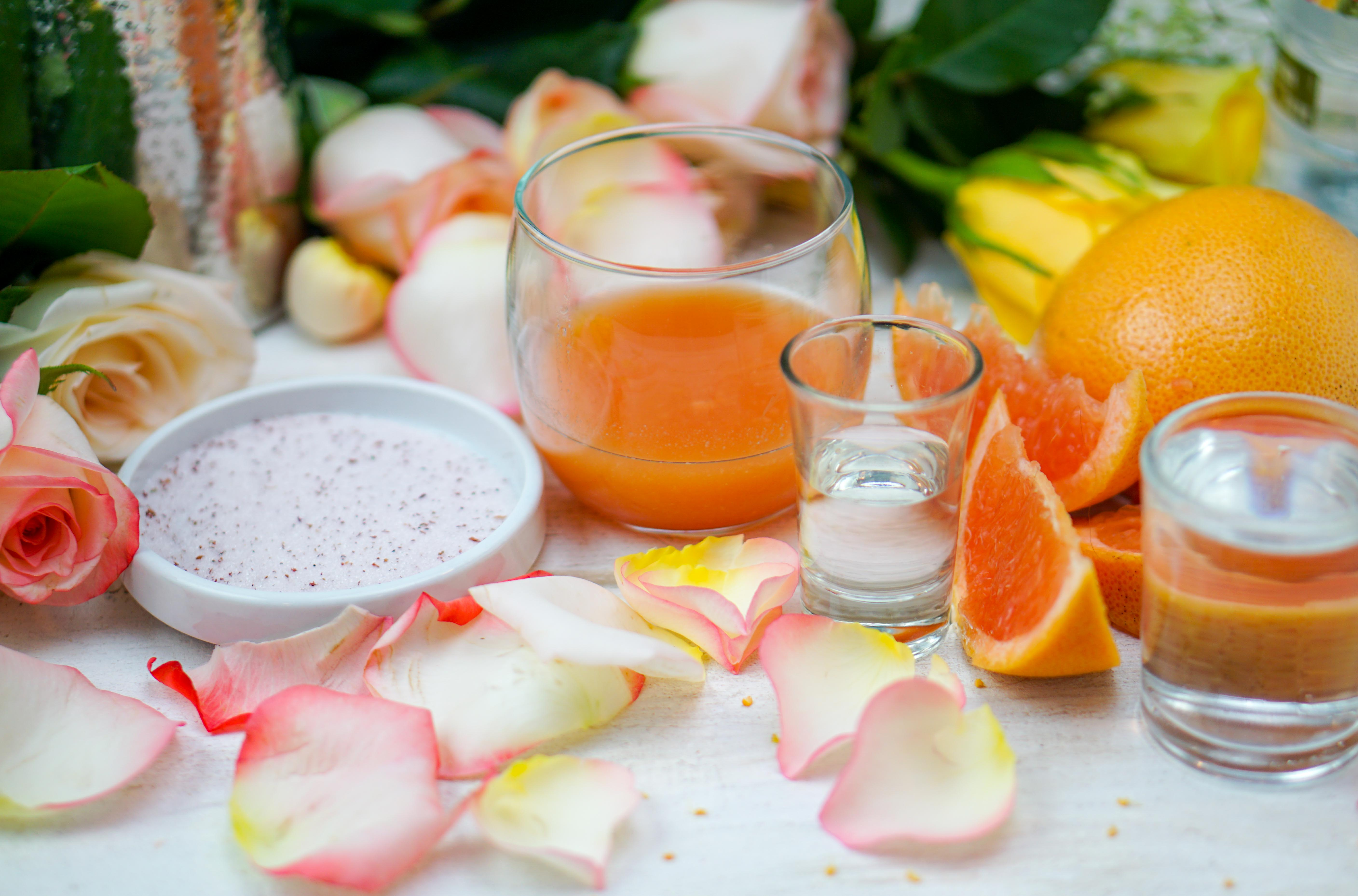 This fruity, floral cocktail will be a favorite at your warm weather gatherings! Enjoy the essence of summer with a Grapefruit Rose Martini~by Wet Whistle Drinks by Darla Bentley