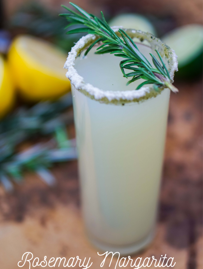 Add a twist of fun to your next margarita by adding rosemary! It's light, herbal flair makes this Rosemary Margarita unforgettable!~by Wet Whistle Drinks by Darla Bentley