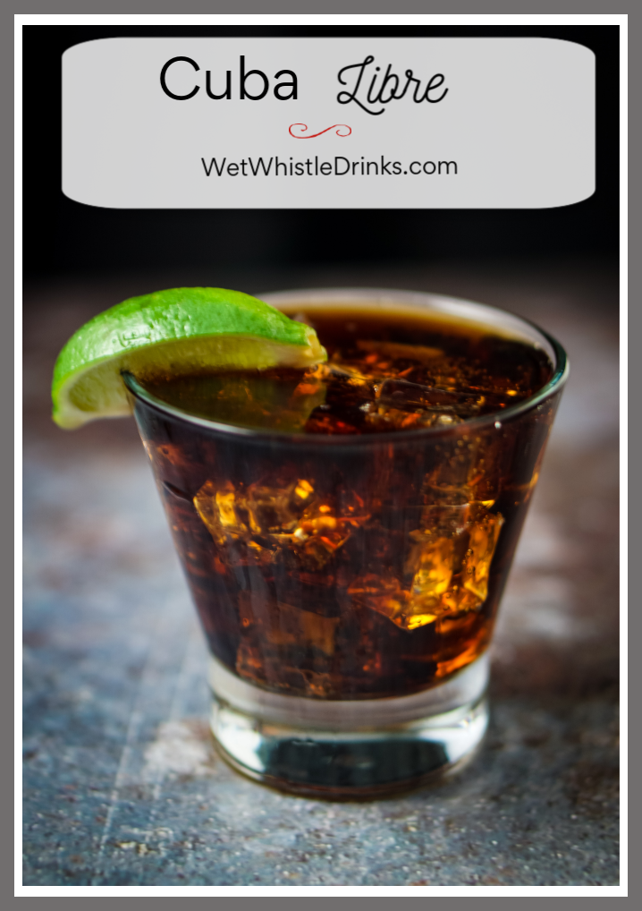 A Cuba Libre is so much more than a rum and Coke! Aged, dark rum, a healthy squeeze of lime and Coca Cola combine to create a cocktail with both flavor and history!